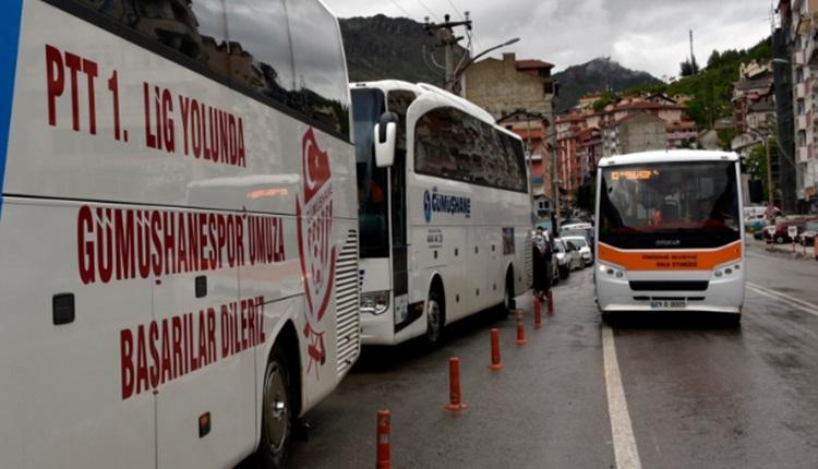 Gümüşhanespor taraftarları İstanbul'a çıkarma yaptı