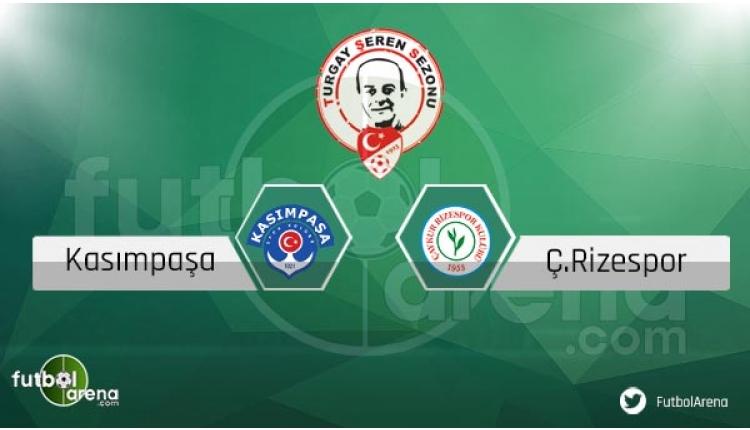 Kasımpaşa - Çaykur Rizespor maçı sakat ve cezalı futbolcular