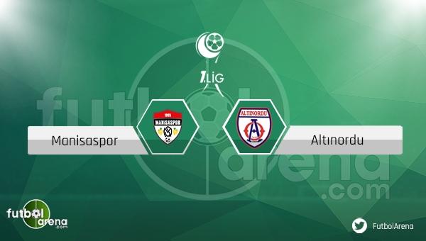 Manisaspor - Altınordu maçı saat kaçta, hangi kanalda? (CANLI İZLE)