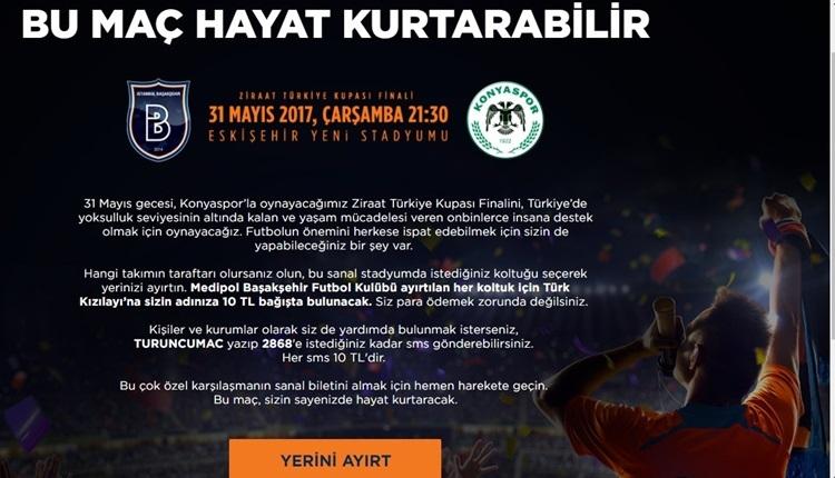 Medipol Başakşehir'den kupa finalinde örnek hareket