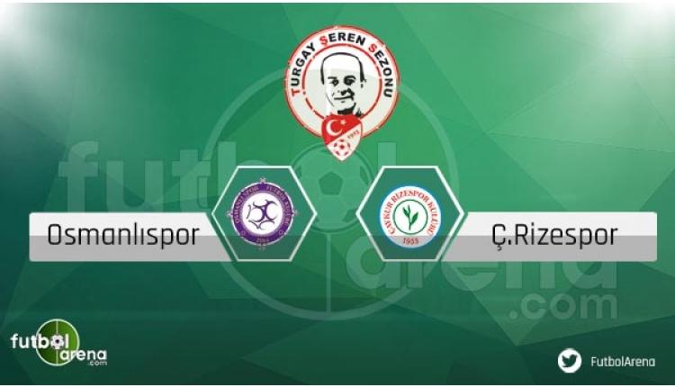 Osmanlıspor Çaykur Rizespor sakat ve cezalı oyuncular