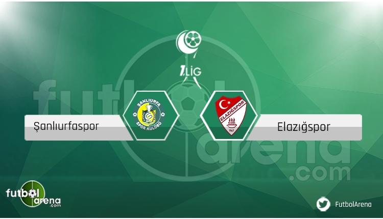 Şanlıurfaspor Elazığspor saat kaçta, hangi kanalda? (CANLI)
