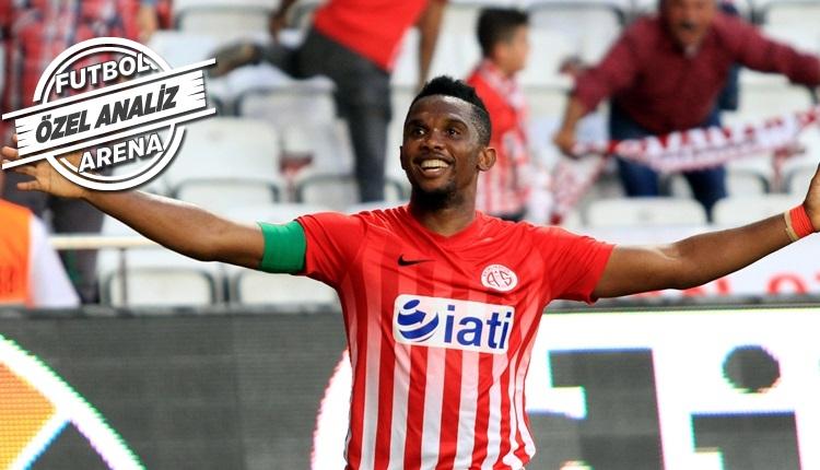 Antalyaspor'da kritik gollerin adamı Samuel Eto'o