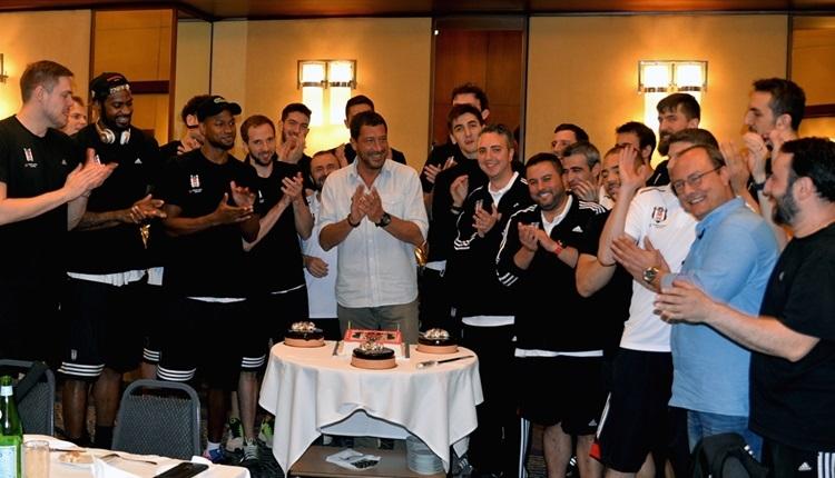 Beşiktaş'ta Ufuk Sarıca için doğum günü kutlaması