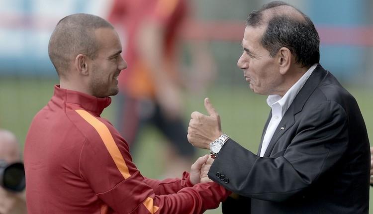 Galatasaray'da Dursun Özbek: ''Wesley Sneijder ile...''