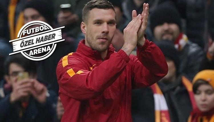 Galatasaray'da Podolski'ye özel veda