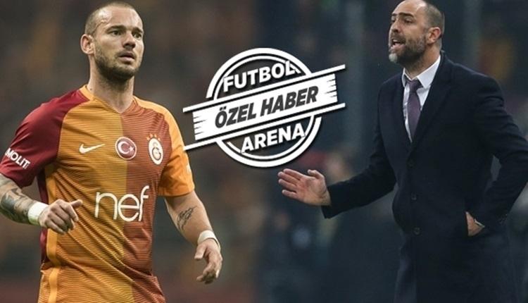 Galatasaray'da Sneijder'e uyarı! Bu kez yapma!