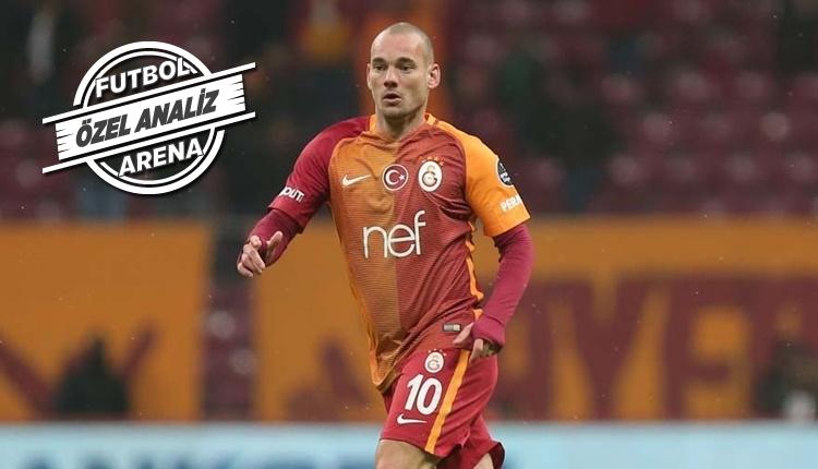 Galatasaray'da Wesley Sneijder Avrupa'da ilk 10'da