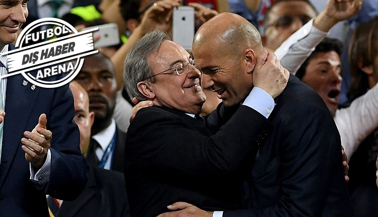 Real Madrid Başkanı Perez, 'Zidane ölene kadar bizimle'