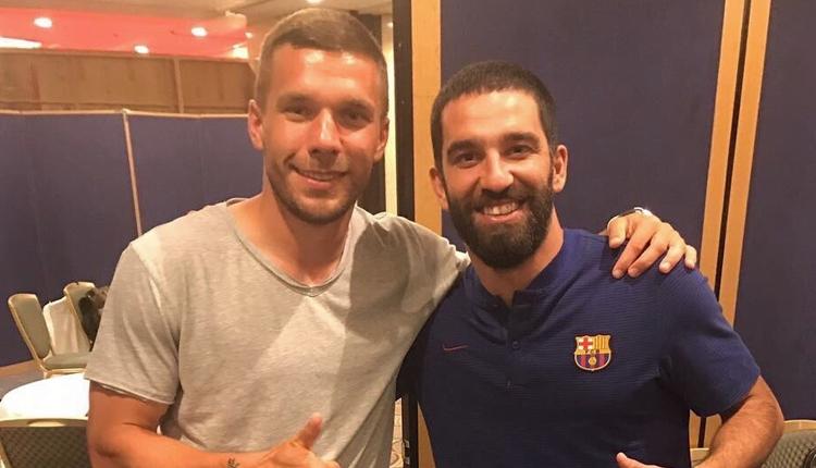 Arda Turan ve Lukas Podolski Japonya'da buluştu