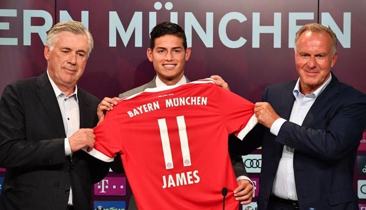 Bayern Münih yeni transferi James Rodirguez tanıttı