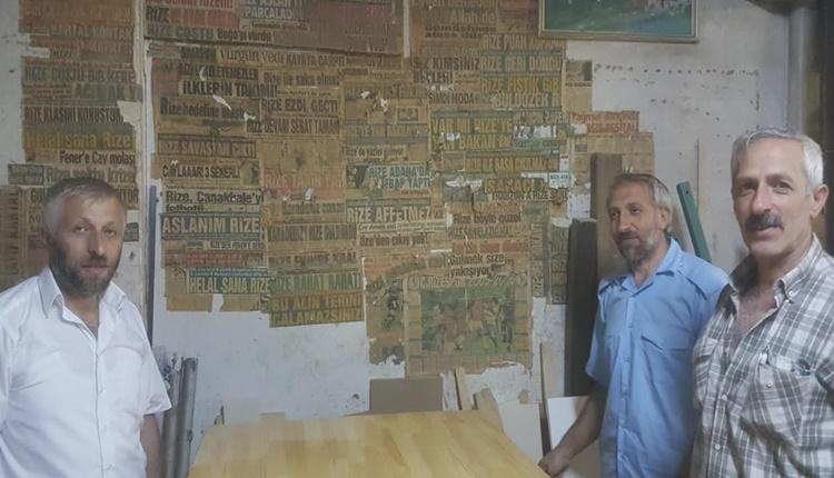 Çaykur Rizespor taraftarının gazete küpürü tutkusu