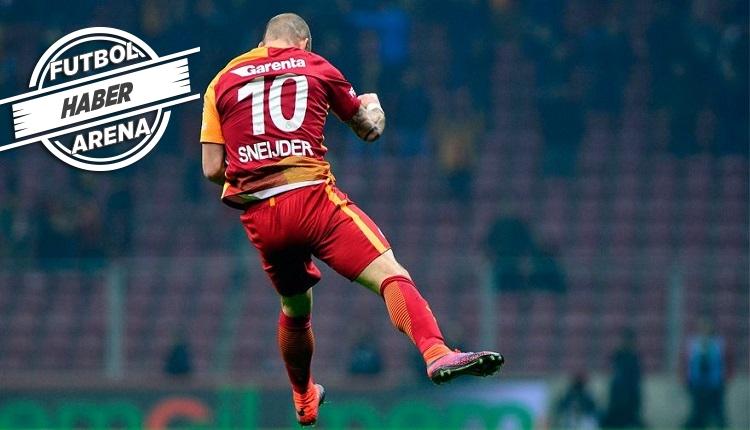 Galatasaray'da Sneijder dönemi kapandı! Unutulmaz anlar