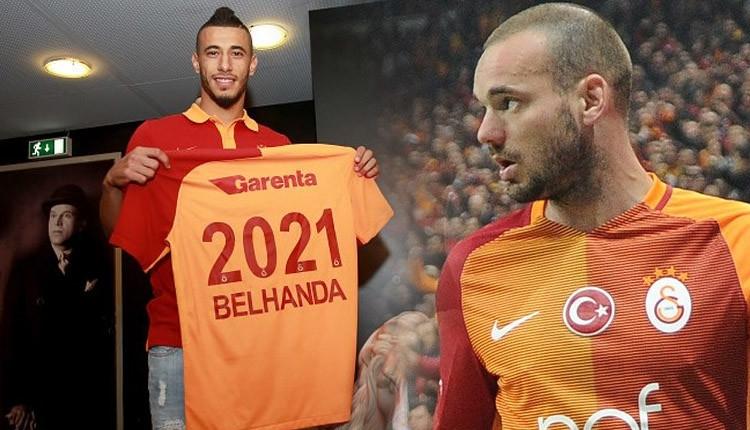 Galatasaray'da Sneijder'in forması Belhanda'ya verildi