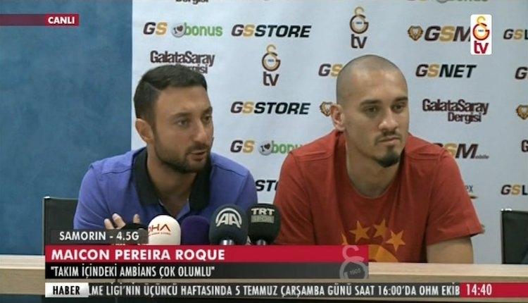 Galatasaray'ın yeni transferi Maicon'un imza töreni (CANLI)