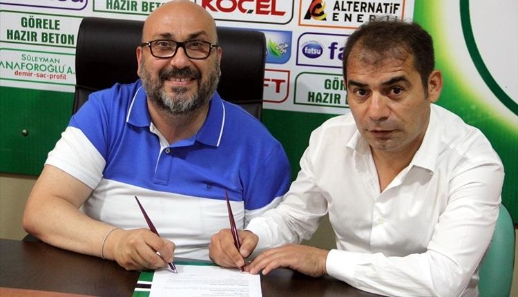 Giresunspor'un yeni teknik direktörü Metin Diyadin