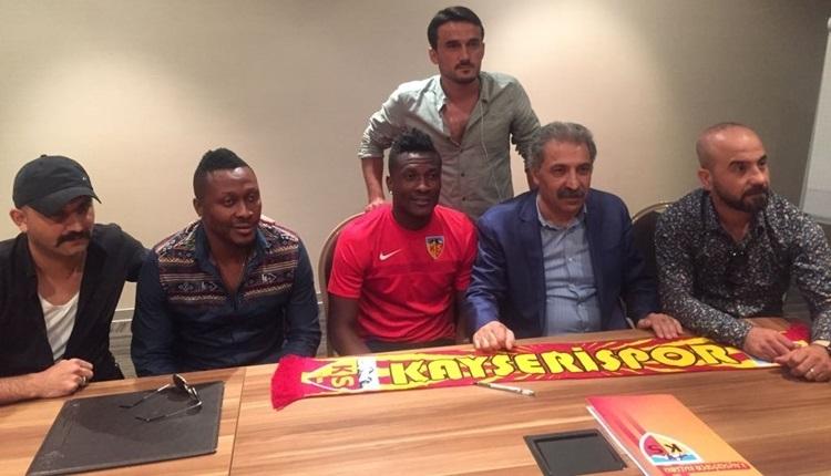 Kayserispor taraftarlarından Asamoah Gyan üzerinden Beşiktaşlı Pepe'ye gönderme