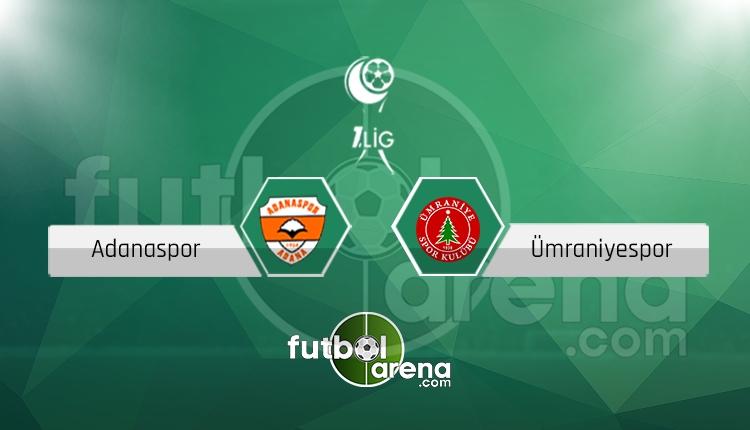 Adanaspor Ümraniyespor canlı skor, maç sonucu - Maç hangi kanalda?