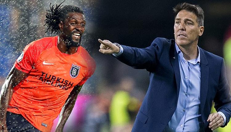Başakşehir - Sevilla maçında Adebayor ile Berizzo birbirlerini ittiler