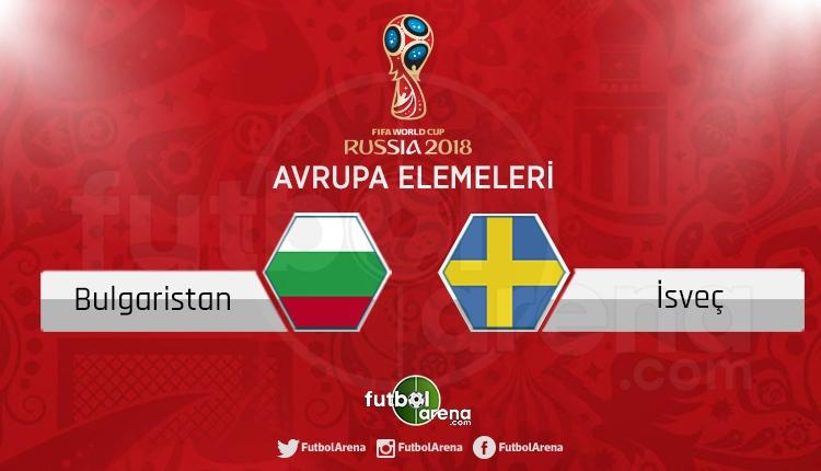 Bulgaristan İsveç canlı skor, maç sonucu - Maç hangi kanalda?