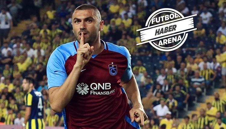 Trabzonspor'da Burak Yılmaz'dan Fenerbahçe'ye anlamlı gol