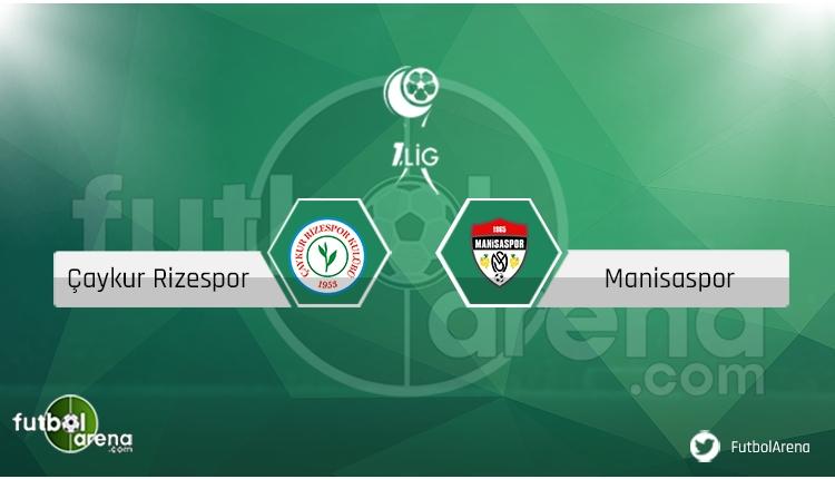 Çaykur Rizespor Manisaspor maçı saat kaçta, hangi kanalda? Eksik ve cezalılar
