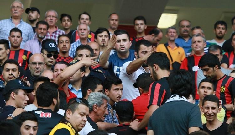 Eskişehirspor - Manisaspor maçında kavga