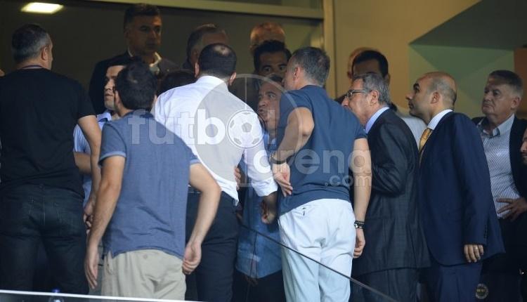 Fenerbahçe'de Mahmut Uslu ile Trabzonspor yöneticileri arasında kavga!