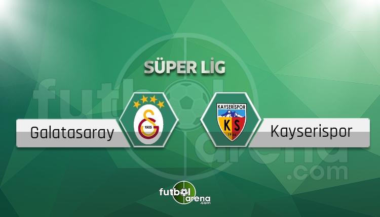 Galatasaray - Kayserispor maçı sakat, cezalı oyuncular