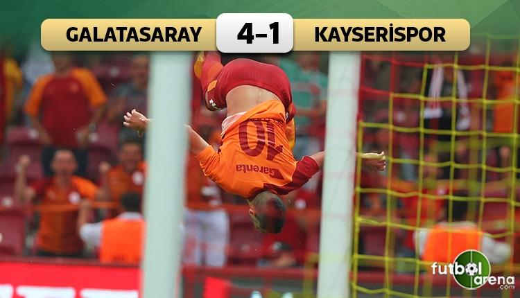 Galatasaray 4-1 Kayserispor maç özeti ve golleri (İZLE)