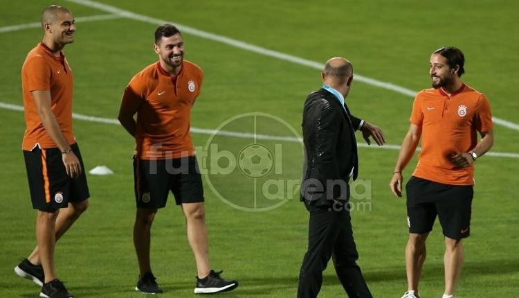 Galatasaray'da Cenk Ergün, Osmanlıspor maçında sırılsıklam oldu