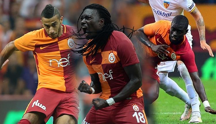 Galatasaray'da Kayserispor maçında Gomis, Belhanda ve Ndiaye coştu