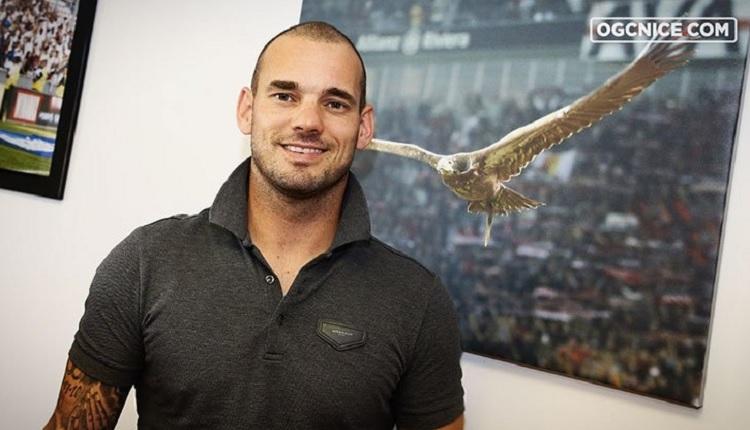Galatasaray'dan ayrılan Sneijder, Nice'e transfer oldu