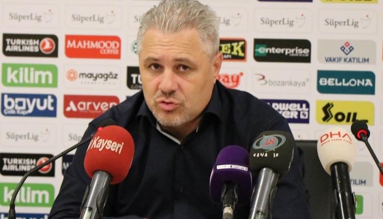 Kayserispor'da Sumudica'dan ilginç sözler: 'Oyalanın dedim'