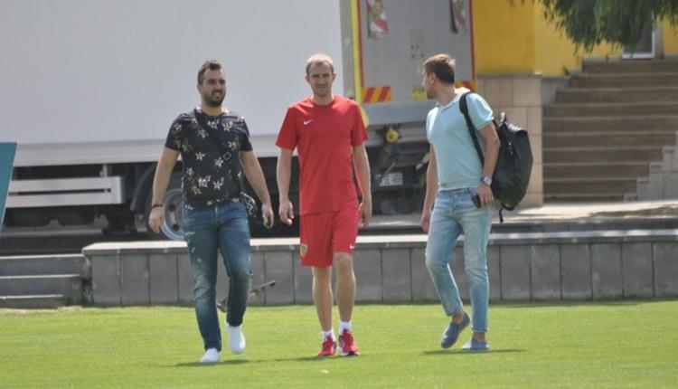 Kayserispor'un anlaştığı Oleksandr Kucher, şehre geldi