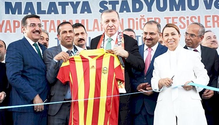 Malatyaspor'un yeni stadını Cumhurbaşkanı Erdoğan açtı