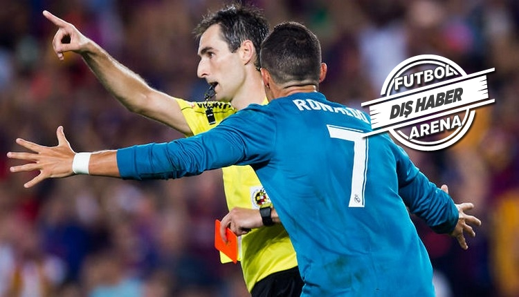 Real Madrid'de Cristiano Ronaldo'ya 5 maç ceza