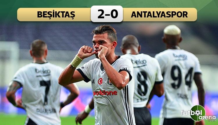 Beşiktaş 2-0 Antalyaspor maç özeti ve golleri (İZLE)