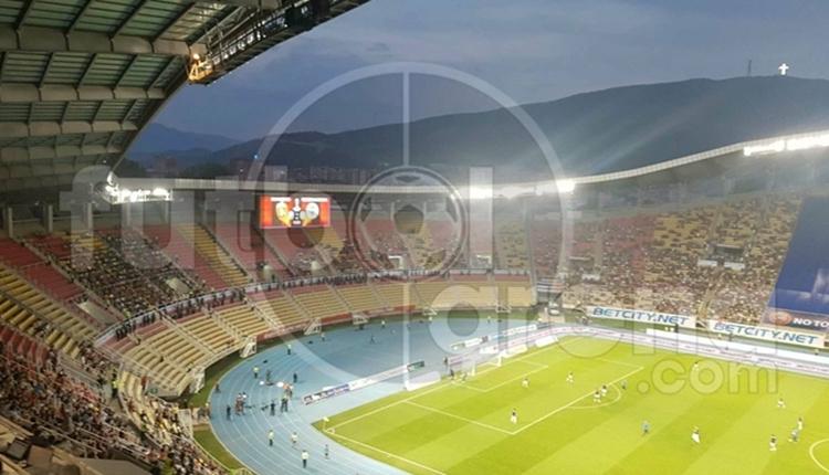 Vardar - Fenerbahçe maçı öncesi patlama sesi