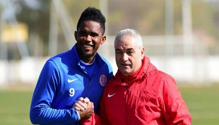 Antalyaspor'da Samuel Eto'dan Rıza Çalımbay'a: