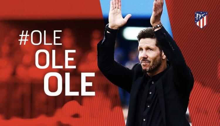 Atletico Madrid, Simeone'nin sözleşmesini uzattı