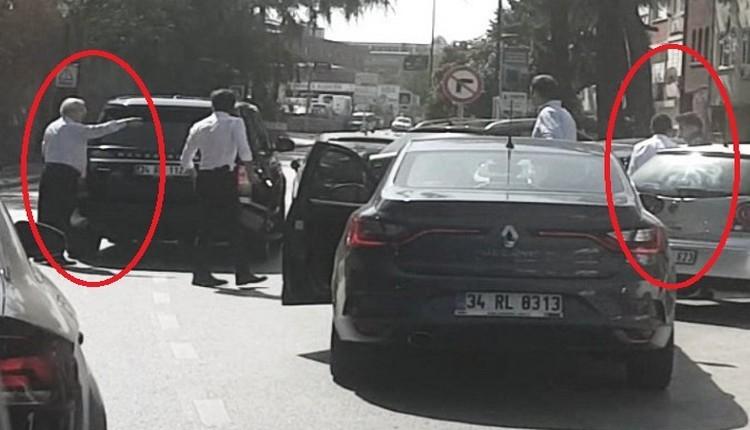Aziz Yıldırım bir kez daha trafikte motorcuyla tartıştı
