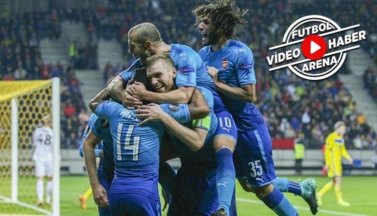 BATE Borisov - Arsenal maçı özeti ve golleri (İZLE)