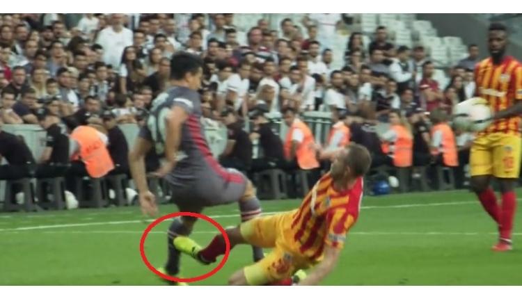 Beşiktaş - Kayserispor maçında Necip'e yapılan sert faul tepki çekti