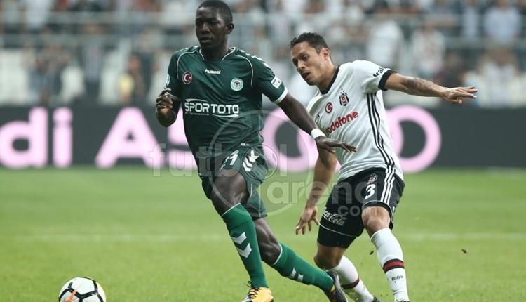 Beşiktaş - Konyaspor maçında Adriano sakatlandı