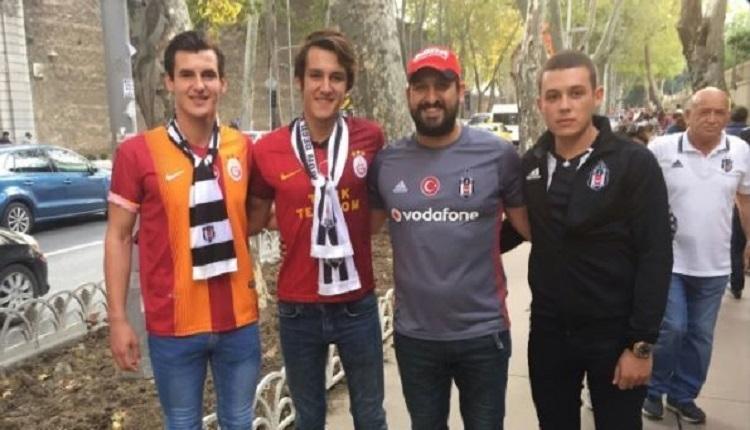 Beşiktaş - Leipzig maçında Galatasaray formalı taraftar tribünden çıkarıldı