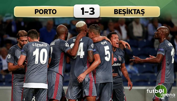 Porto 1-3 Beşiktaş maç özeti ve golleri (İZLE)