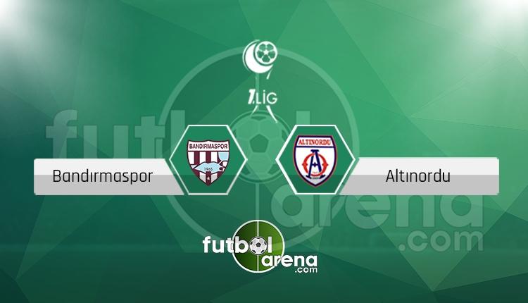 Boluspor Altınordu canlı skor, maç sonucu - Maç hangi kanalda?