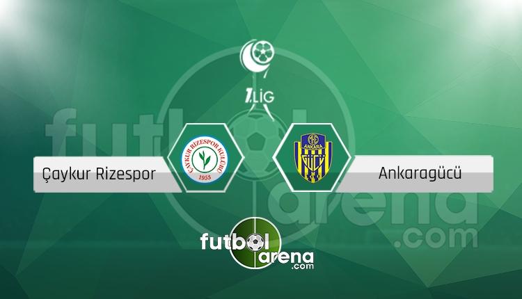 Çaykur Rizespor Ankaragücü canlı skor, maç sonucu - Maç hangi kanalda?
