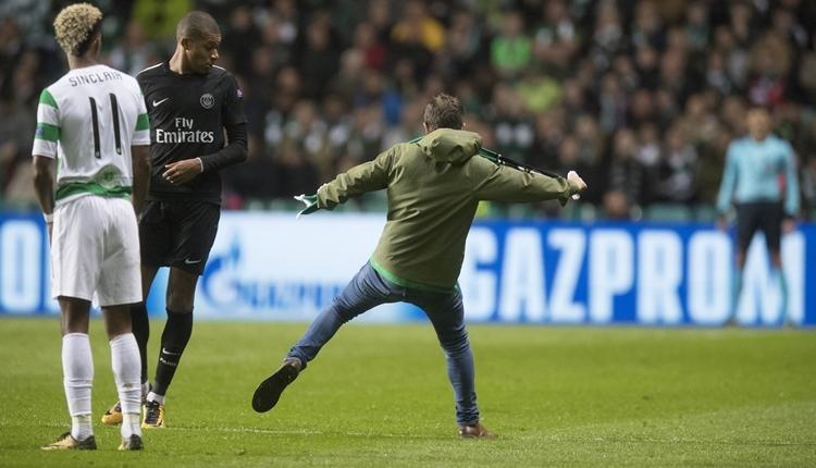 Celtic - PSG maçında Mbappe'ye saldırı